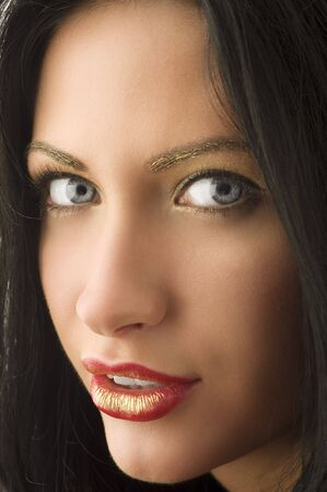 close up of a young very cute woman with unique make up Stock Photo - 5390129