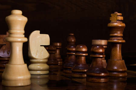 chessboard: Chess photographed on a chessboard