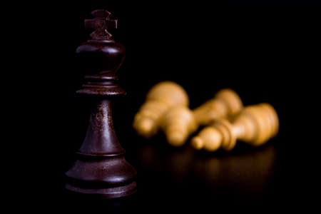 Chess photographed on a neutral background
