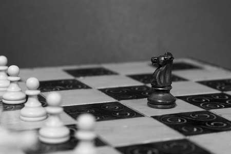 boldness: Chess photographed on a chessboard