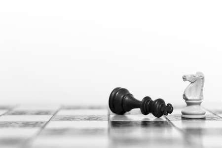 체스 판에 체스 촬영