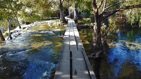 Wooden bridge in Chiapas