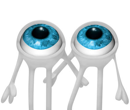 eyes looking up: 3d image of eyes looking up