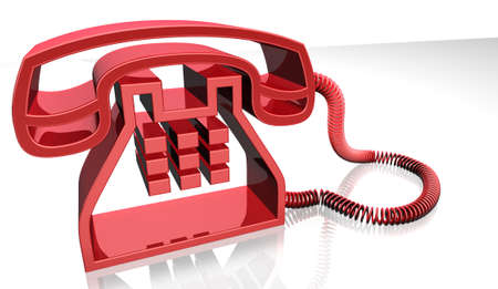 3d image of red telephone photo