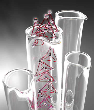 Details of test tubes and geometric parts photo