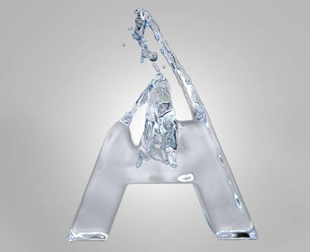 3d image of water alphabet Stock Photo - 8199490