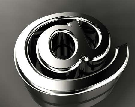 arroba: 3d image of metal arroba symbol Stock Photo