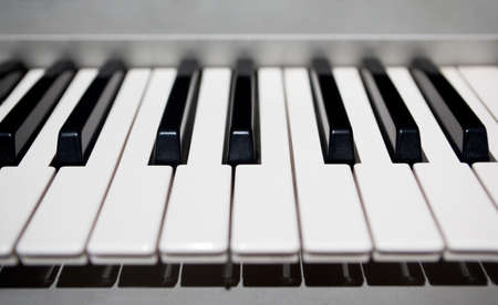 Frontal detail of piano keys photo