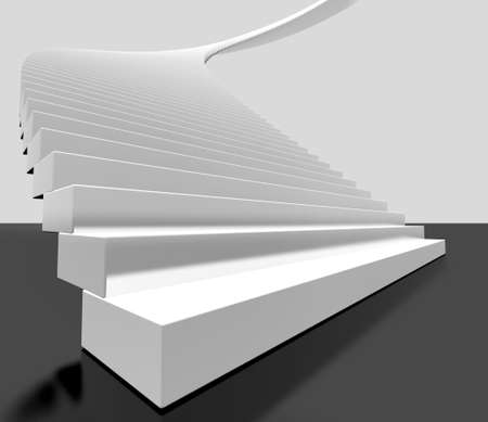 3d image of white ladder photo