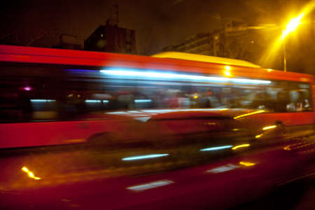 abstract image of moving bus photo