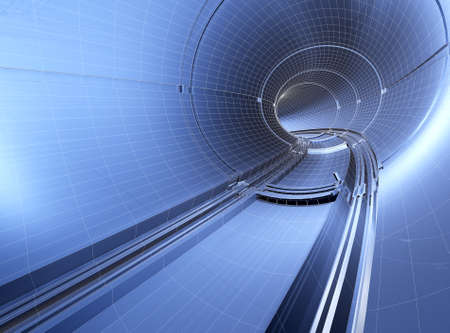 Illustration of drawings of a tunnel blueprint Stock Illustration - 8480358