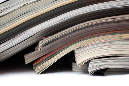 published: Close shot of magazines and newspapers Stock Photo