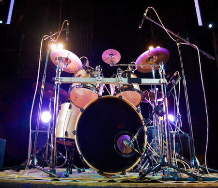 image of drum on stage photo