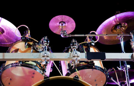 bands: Close up image of drum on stage