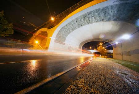 Night urban scene with tunnel Stock Photo - 8462490