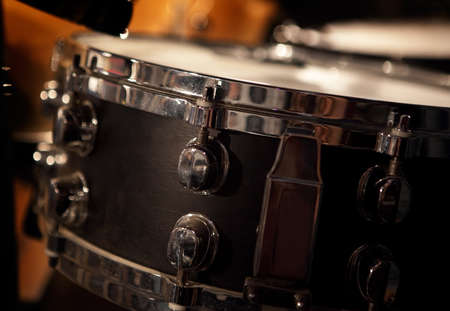 close up image of drum`s snare photo