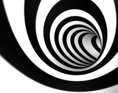 Fond d'image 3D avec tourbillon ou un tunnel