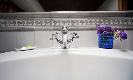 Close up image of retro sink Stock Photo - 8462444