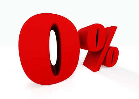 installment:  3D zero percent Stock Photo