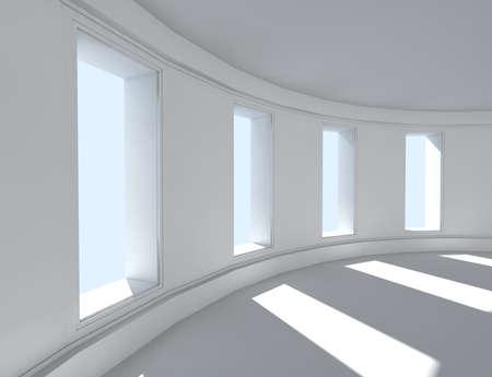 3d architecture of empty interior Archivio Fotografico