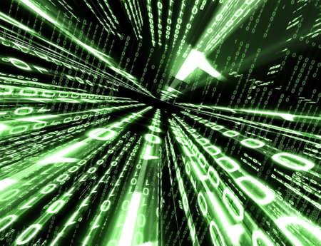 Technological background with binary code Archivio Fotografico