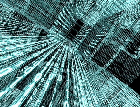 bin�rcode: Abstrakte Technologie Hintergrund mit Bin�rcode