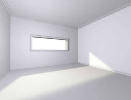 3d architecture of empty interior with window Stock Photo - 9301239