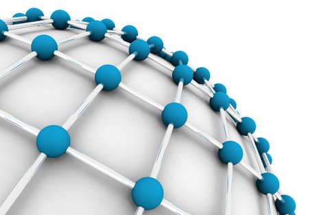 social net: 3D image of the network concept