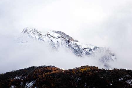 Snowy mountain landscape Stock Photo - 9301576