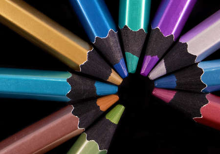 Background color with colored pencils Stock Photo - 9301455