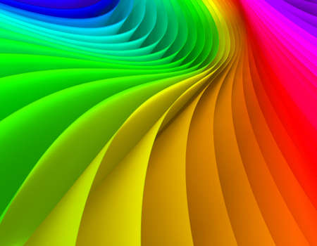 vivid colors: Abstract  3d image of papers colored