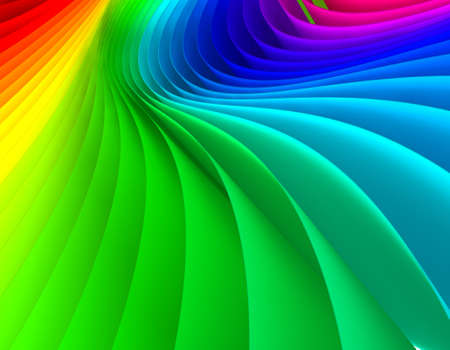 Abstract  3d image of papers colored photo
