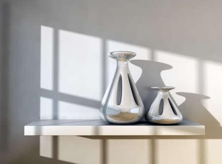3d image of modern vases detail. Stock Photo - 9869160