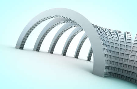 Background 3d abstract architecture in blue toned Stock Photo - 9869163