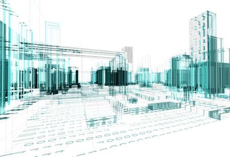 Architectural design of modern city