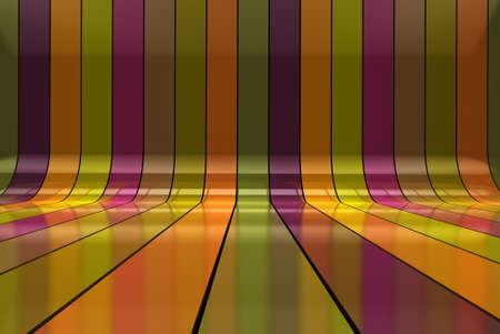 Abstract colorful 3d interior background Stock Photo - 9869175