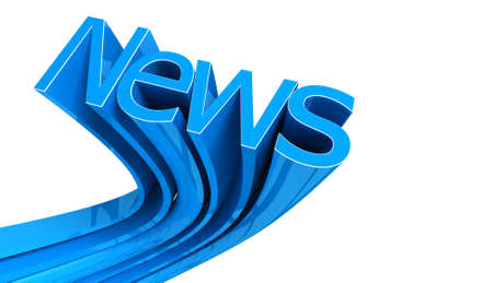 press news: Word News in blue isolated on white Stock Photo