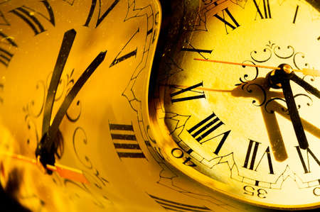 abstract alarm clock: Abstract image of time concept in warm tone