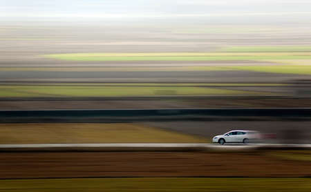 Abstract image of a car and speed photo