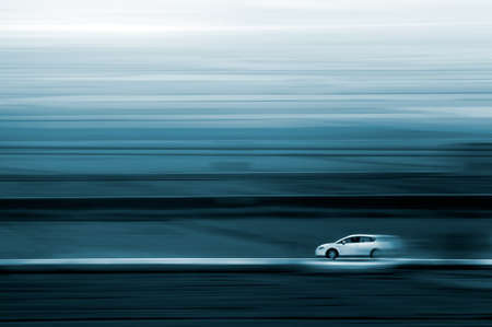 Abstract image of a car and speed