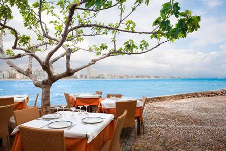 Restaurant near the sea  Stock Photo