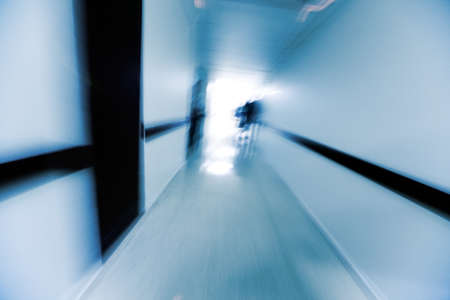 Abstract image of a hospital corridor