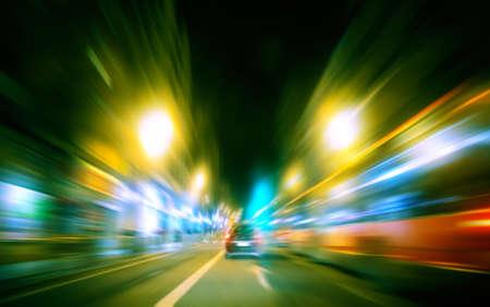 Imagen abstracta de tráfico de la ciudad de velocidad Foto de archivo