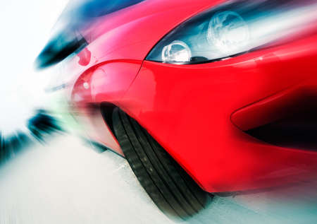 Abstract image of concept car speed photo