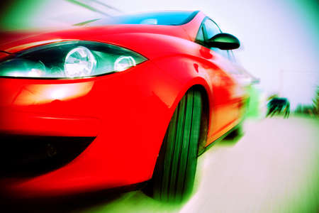 Abstract image of concept car speed