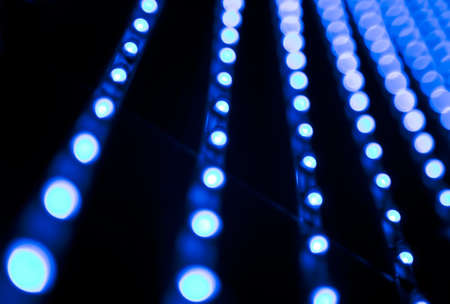 Abstract image of technology LED bulbs