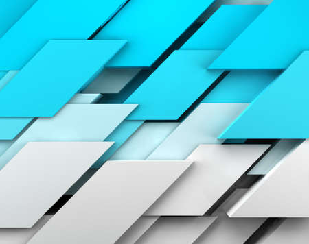 Abstract image of cubes background in blue toned  photo