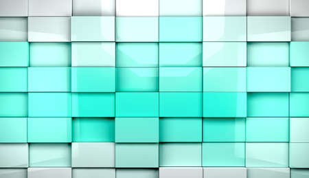 Abstract cubes background in blue toned photo