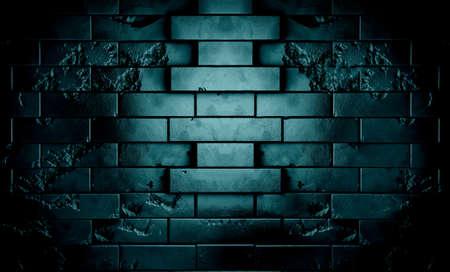 ged: Dark brick wall in night scene background