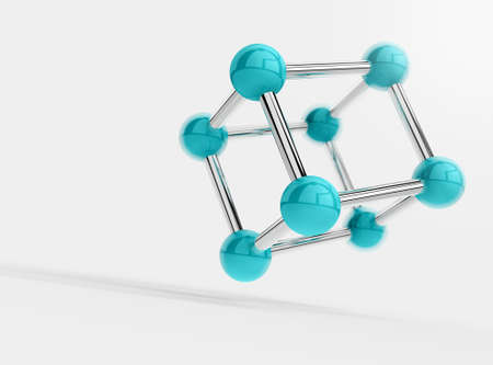 cube object isolated on white  photo
